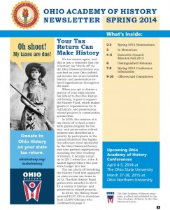 Spring 2014 Newsletter--Click here to download.